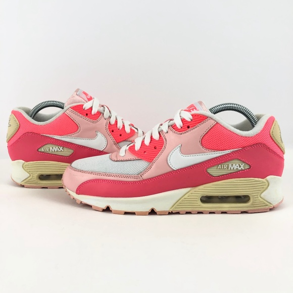 Nike Womens Air Max '90 Shoes Retro New Hot Punch Pink White 325213 605 | eBay